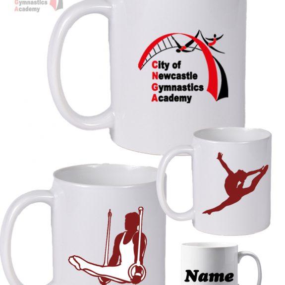 Newcastle Gymnastics White Mugs
